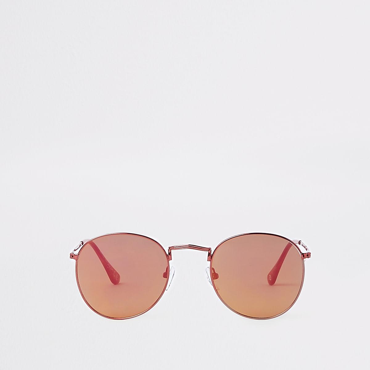 Zonnebril Met Ronde Glazen.Red Revo Round Sunglasses