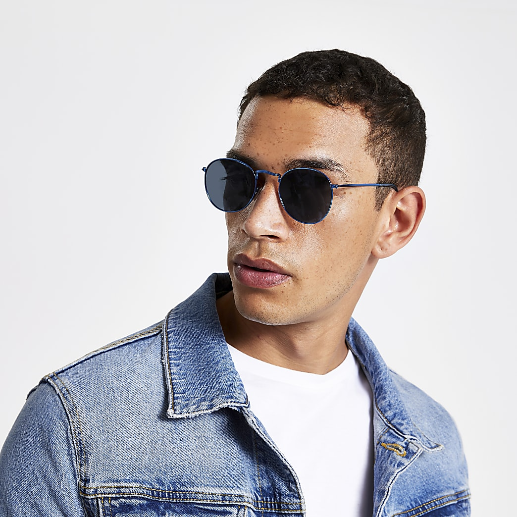 Blue revo round sunglasses