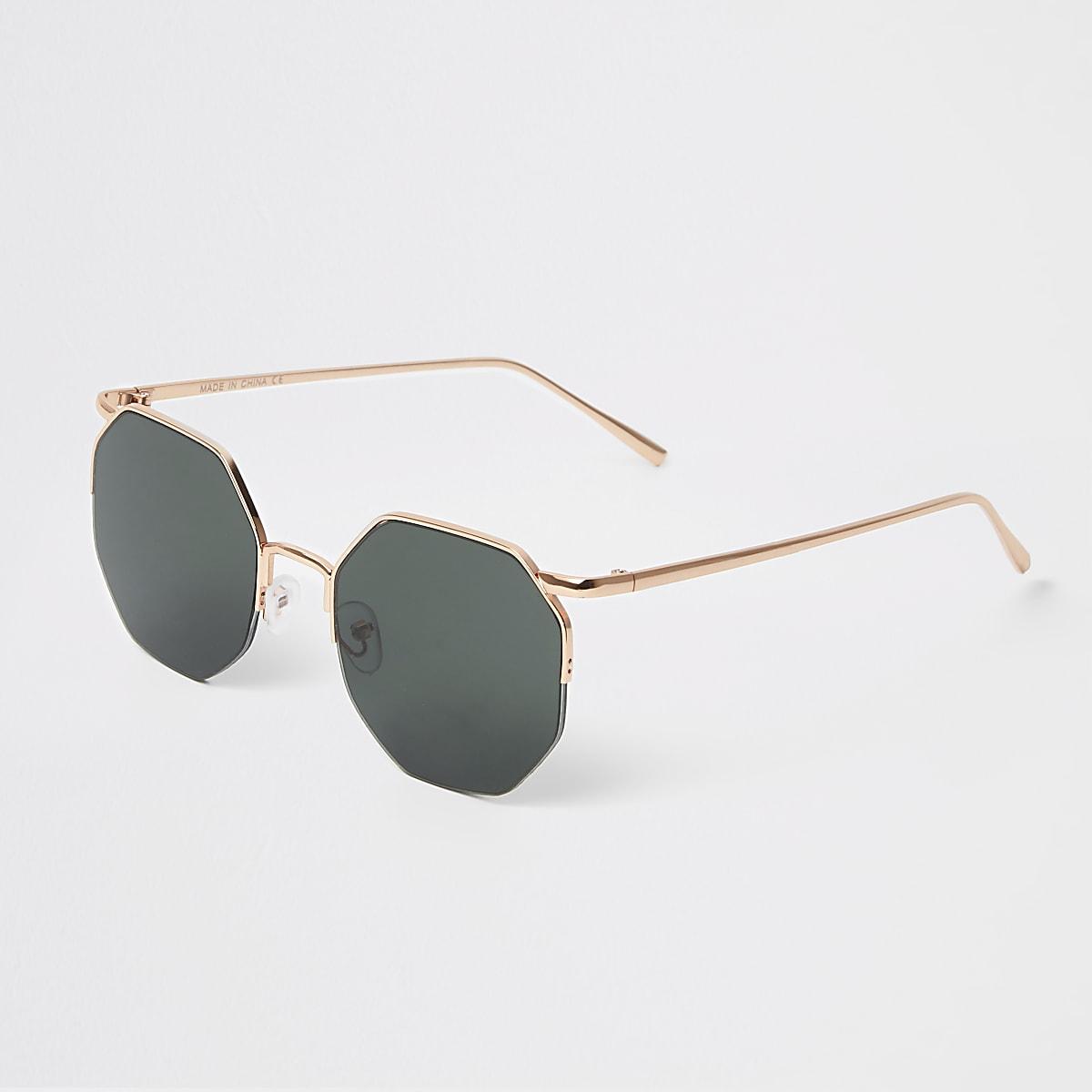 35c1d47318 Green lens hex sunglasses