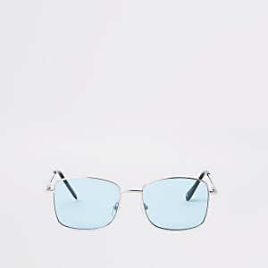 Blue lens hex sunglasses