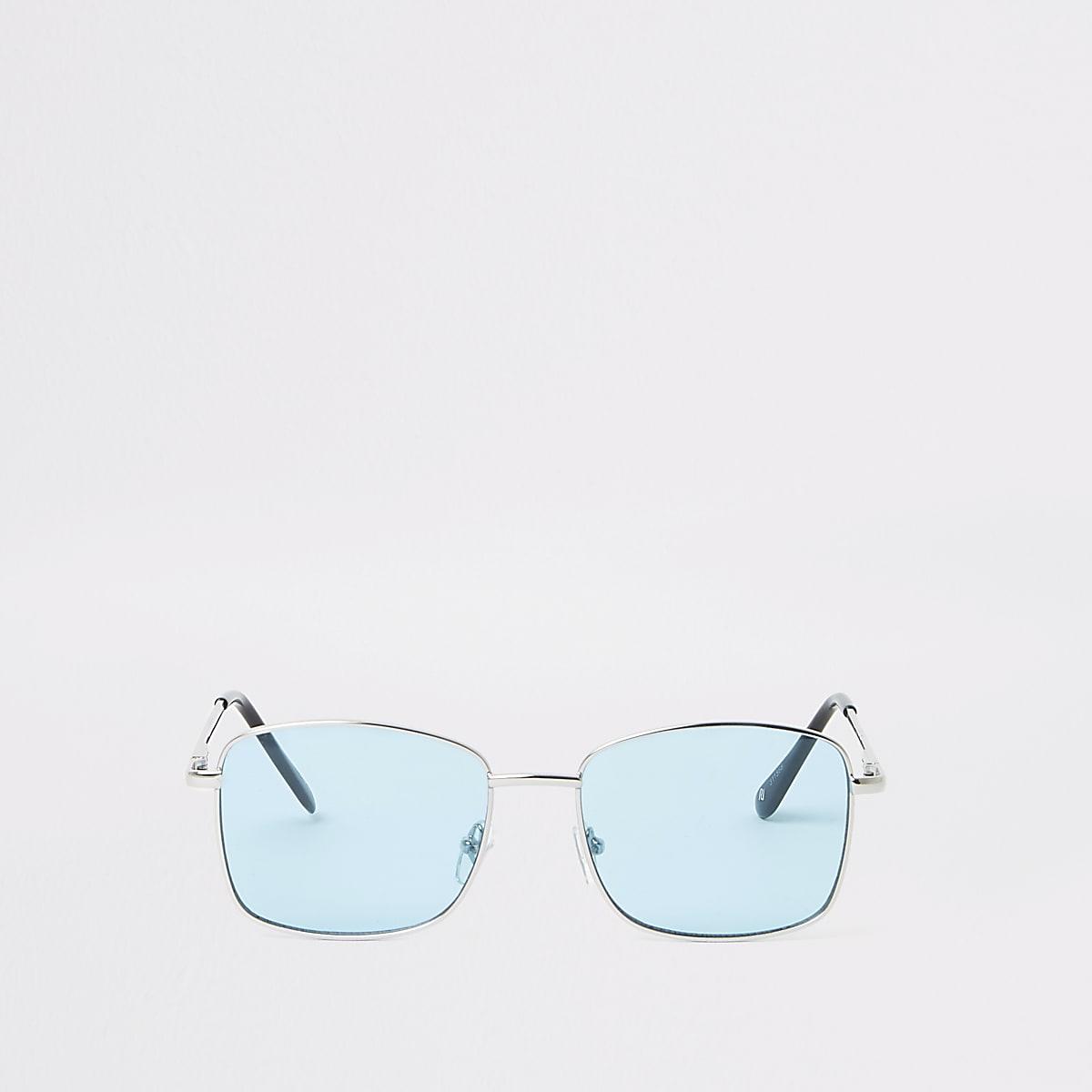 Blue lens hex sunglasses