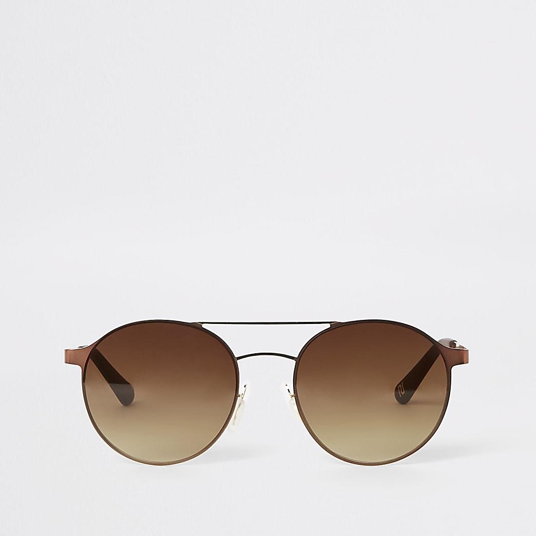 Brown aviator sunglasses