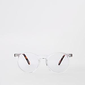 Doorzichtige preppy ronde bril