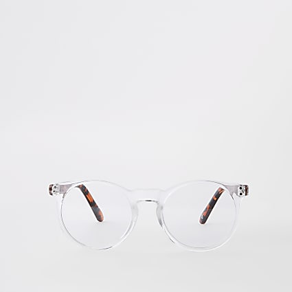 Clear preppy round glasses