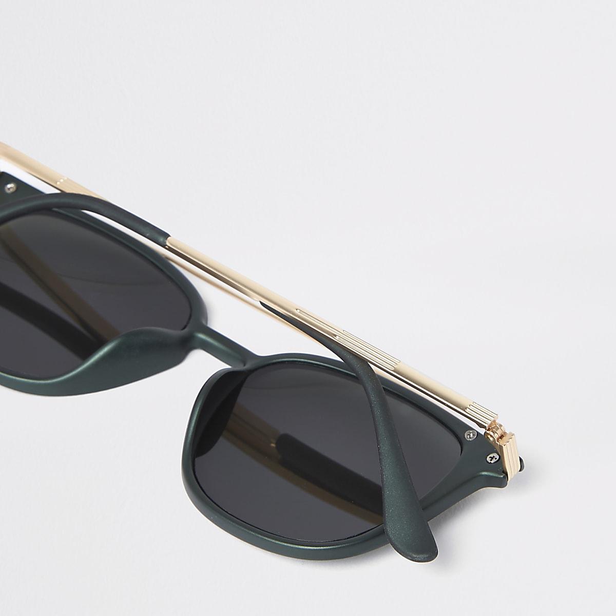 6b01fccd9 Khaki green brow bar navigator sunglasses - Aviator Sunglasses ...