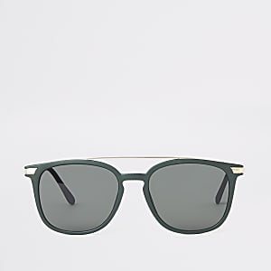 Kakigroene navigator zonnebril met brug