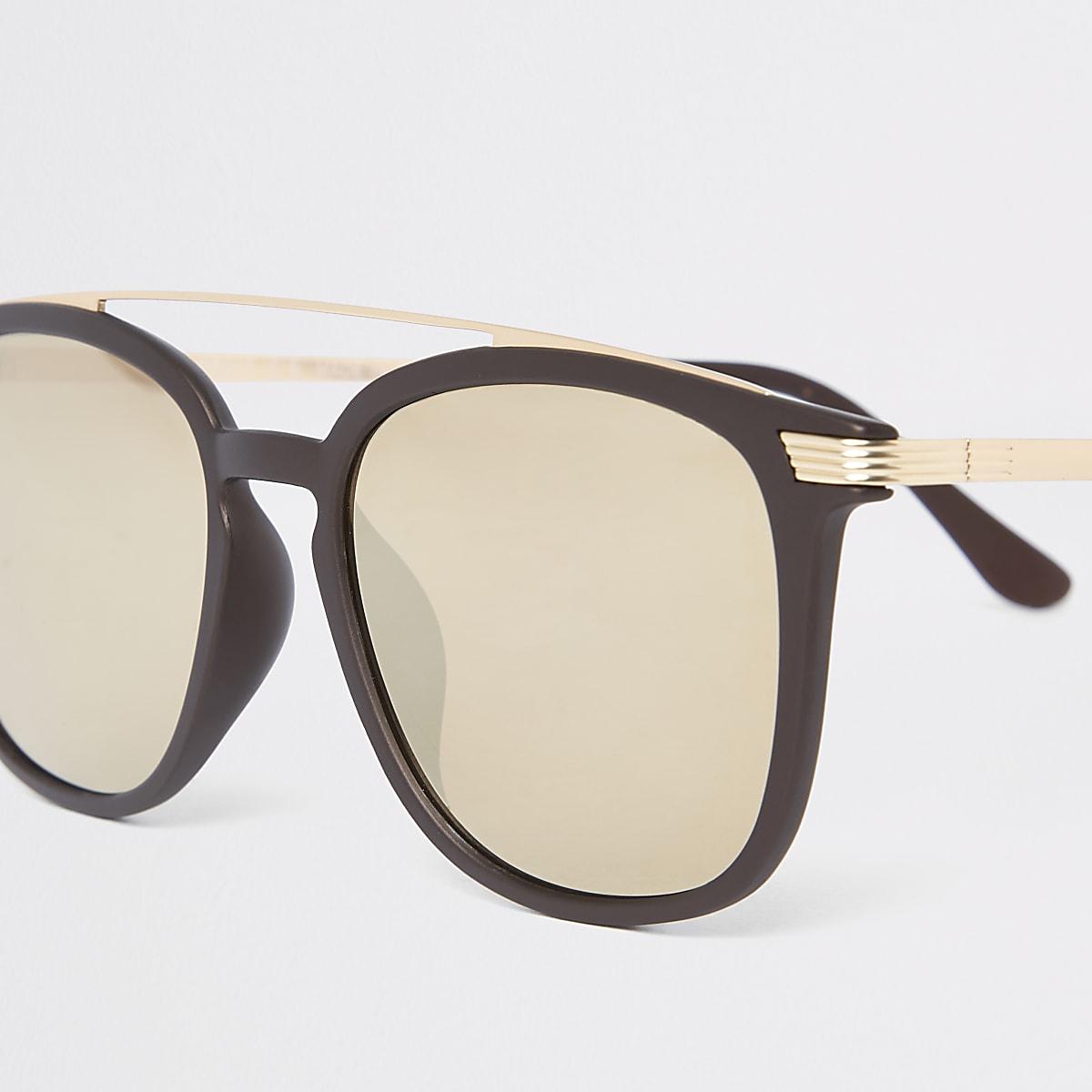 84b6707cd Brown brow bar navigator sunglasses - Aviator Sunglasses ...