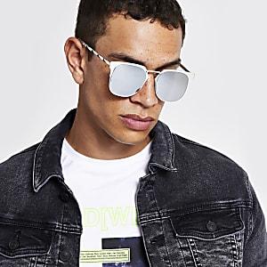 Silberne Retro-Sonnenbrille