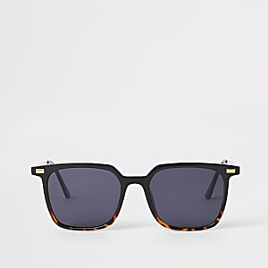 Brown tortoise shell slim retro sunglasses