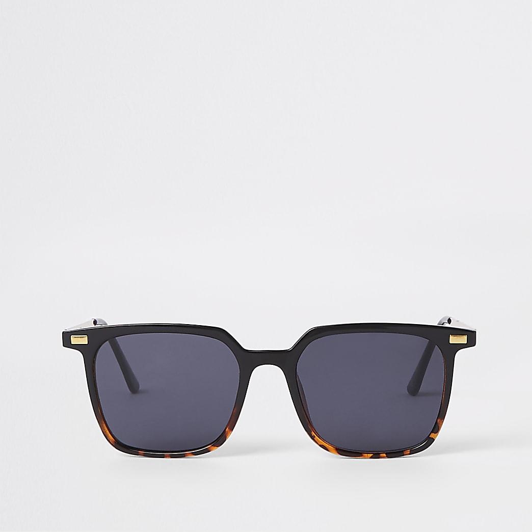 Brown tortoise shell slim retro sunglasses