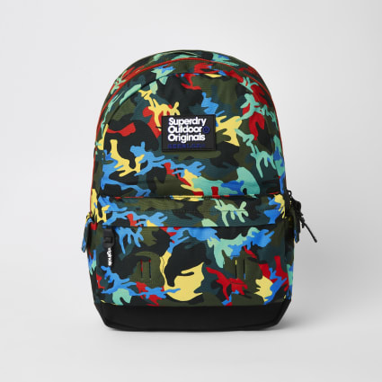 Superdry green camo backpack