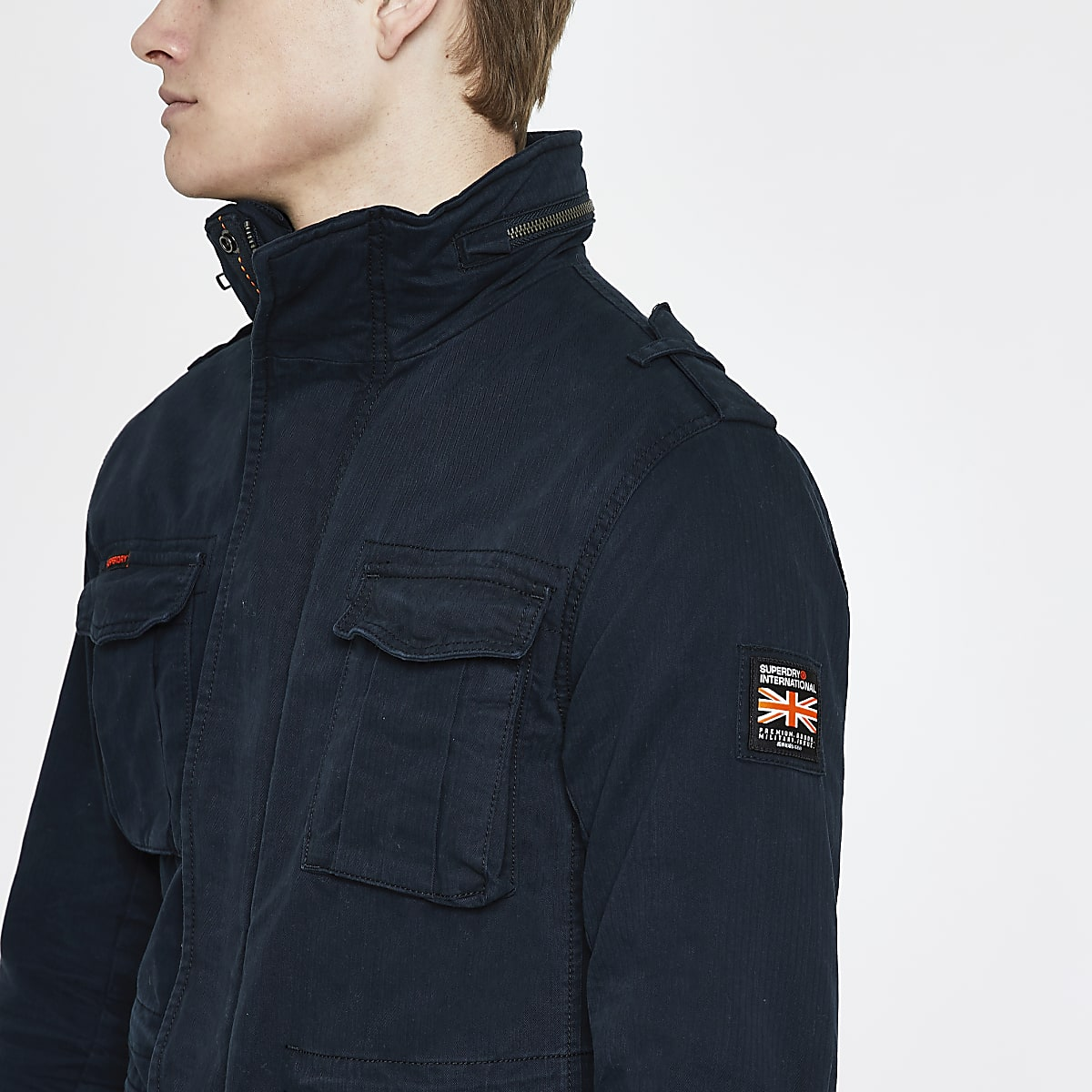Superdry navy classic four pocket jacket