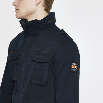 Superdry navy classic four pocket jacket