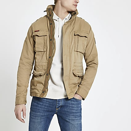 Superdry stone classic four pocket jacket
