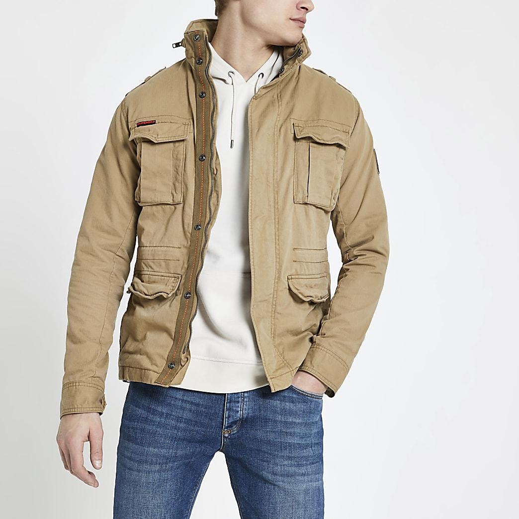 Superdry stone classic four pocket jacket