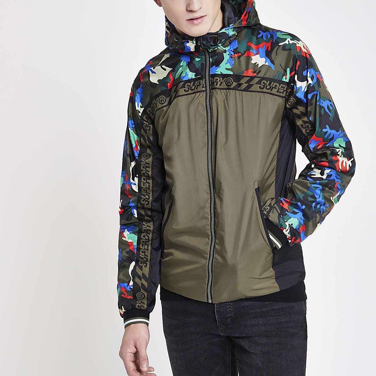 Superdry - Groen jack met camouflageprint