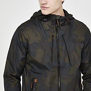 Superdry – Veste à capuche camouflage kaki
