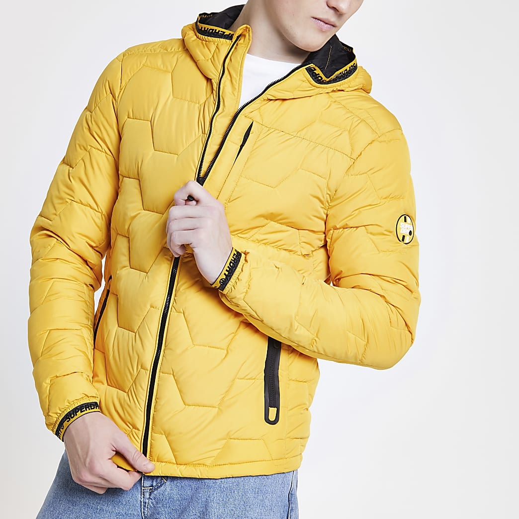 Superdry – Gelbe Steppjacke