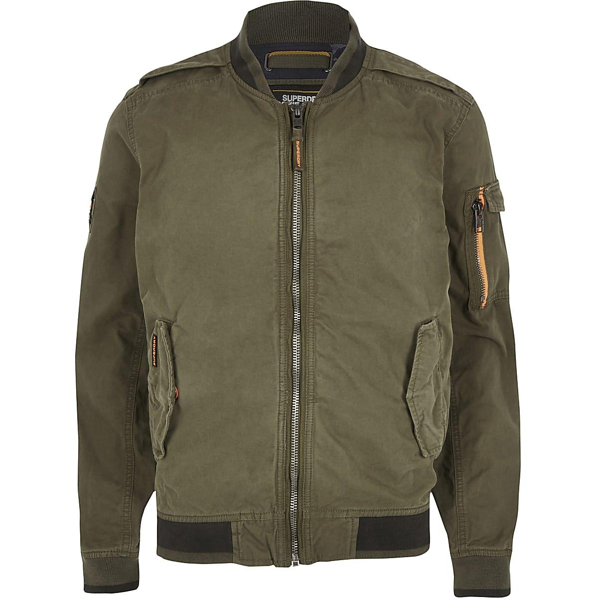 f955a303f Superdry khaki bomber jacket