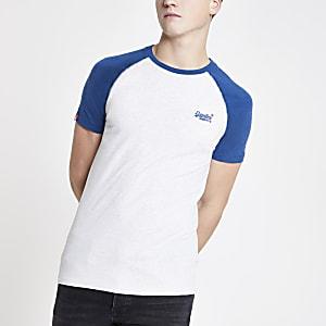 Superdry - Marineblauw T-shirt met raglanmouwen
