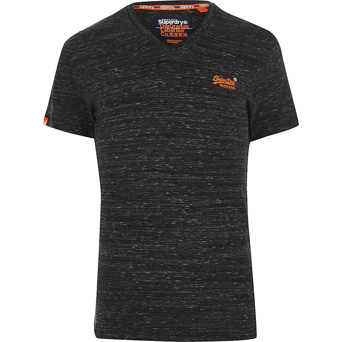 new collection uk cheap sale select for official Superdry black V neck T-shirt