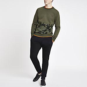 Superdry khaki logo sweatshirt