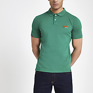 Superdry green polo shirt