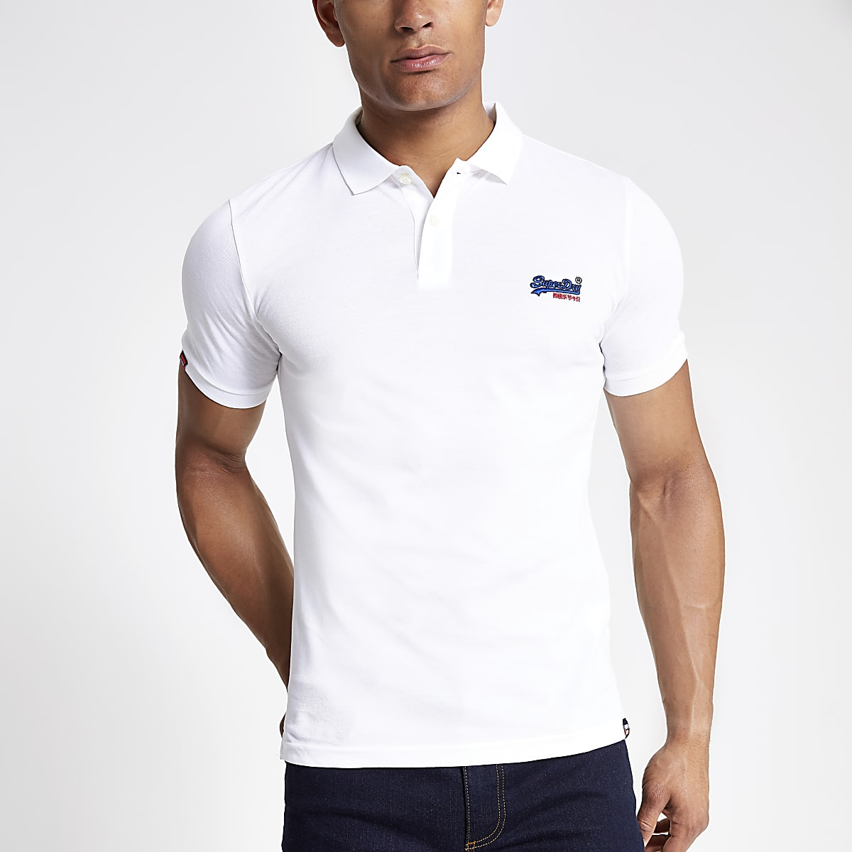 Superdry - Wit poloshirt