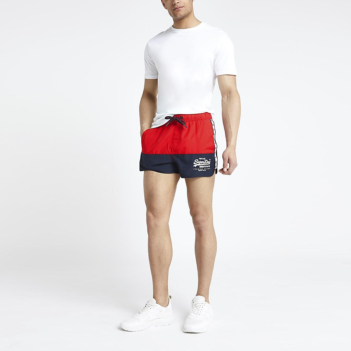 a81b866995 Superdry red runner swim shorts - Swim Shorts - Shorts - men