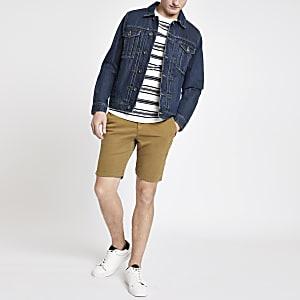 Superdry brown slim fit shorts
