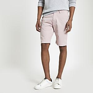 Superdry – Pinke Slim Fit Chino-Shorts