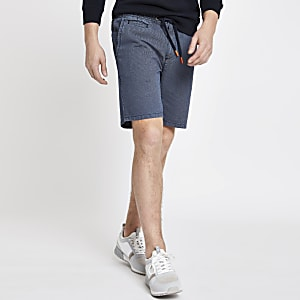 Superdry navy sun scorched shorts