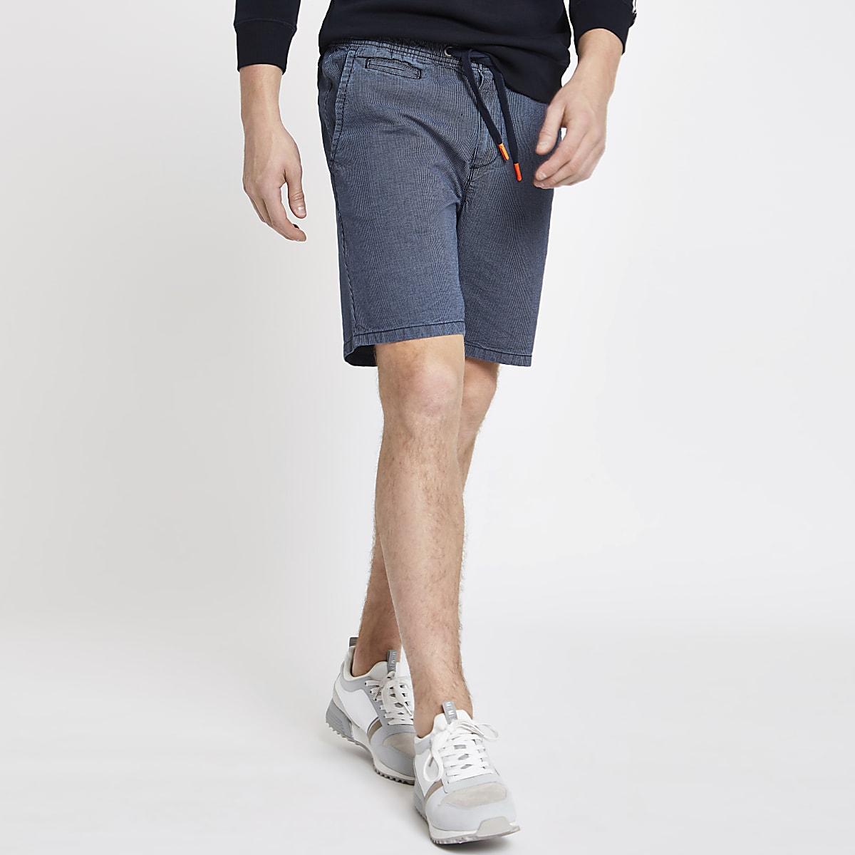185d0071ff3af Superdry – Short bleu marine délavé par le soleil - Shorts casual ...