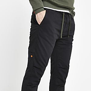 Superdry black cargo trousers