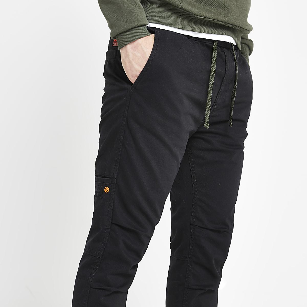 Superdry black cargo pants