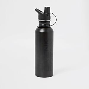 """Graue Wasserflasche """"drink"""""""