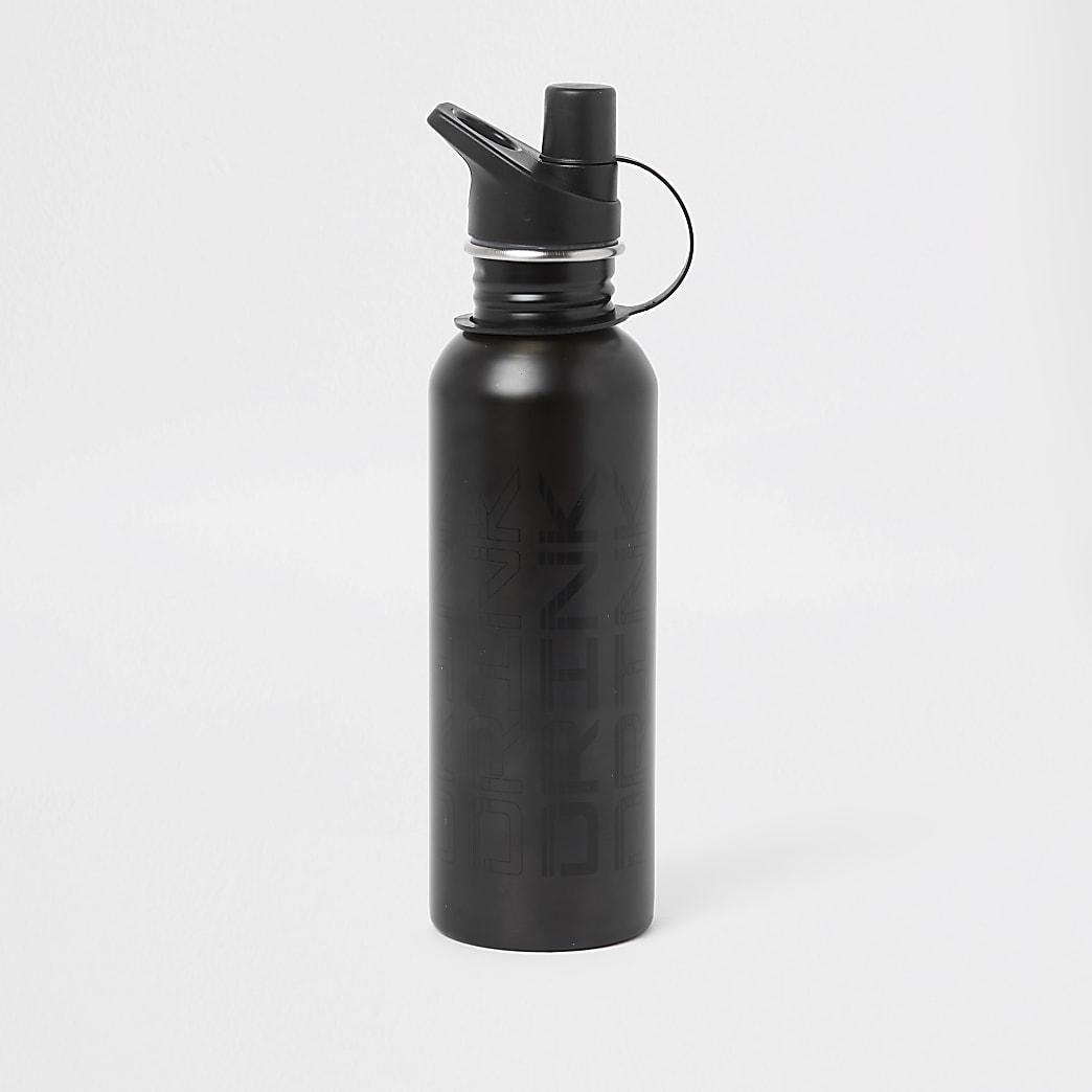 Gourde d'eau grise à imprimé «drink»