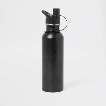 Grey 'drink' print water bottle
