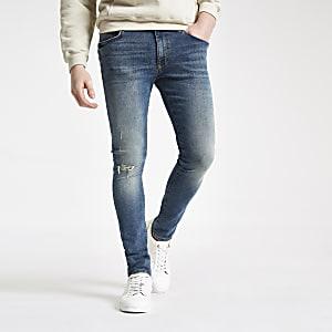 Danny – Jean super skinny bleu mi-délavé