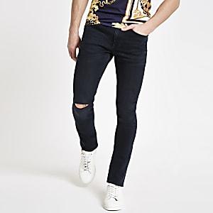 Dark blue Sid skinny ripped jeans