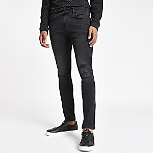 Black wash Sid ripped skinny jeans