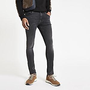 Danny – Jean super skinny délavage noir
