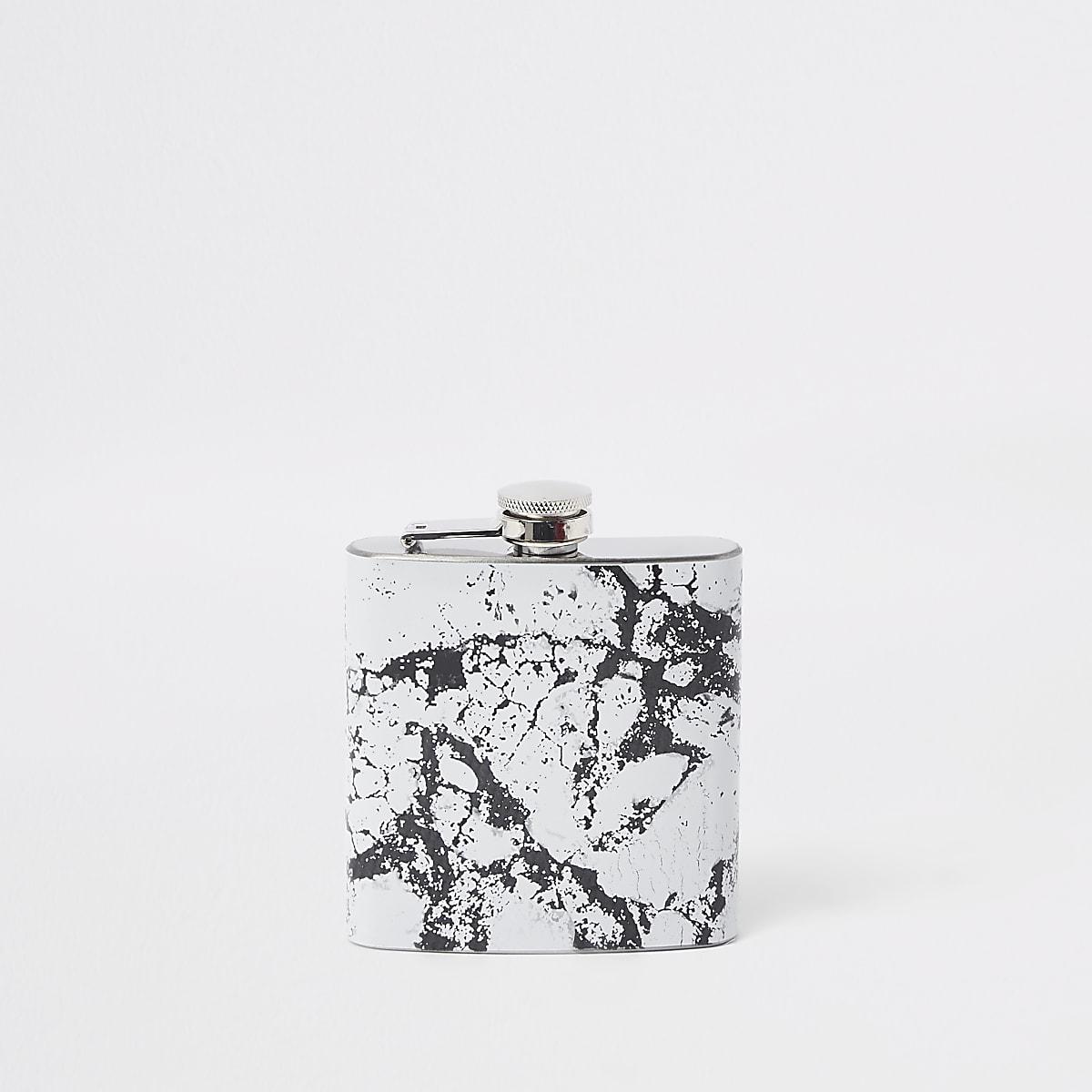 Flasque imprimé marbré noire