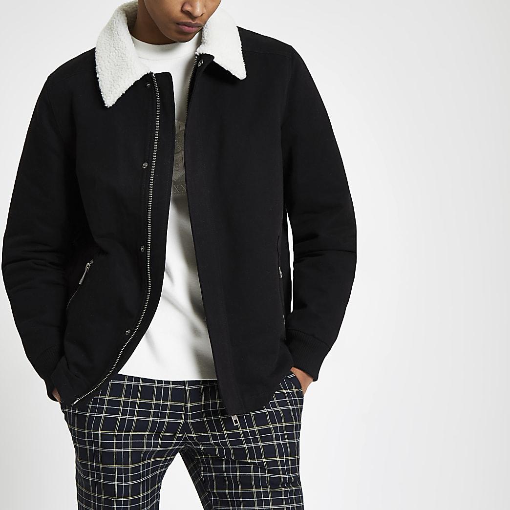 Black borg collar jacket
