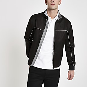 Zwart harrington jack met 'Prolific'-print