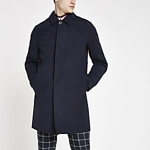 Navy single button mac