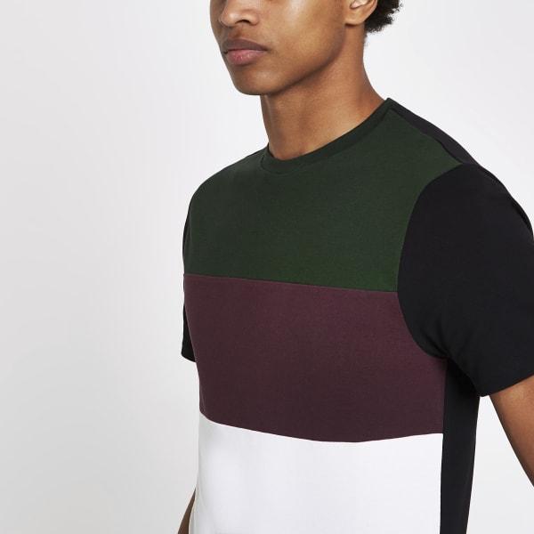 River Island - t-shirt ras-du-cou color block - 4
