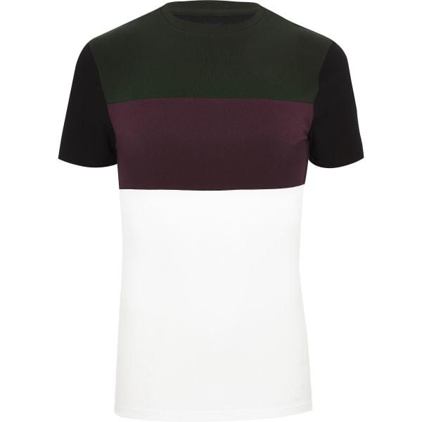 River Island - t-shirt ras-du-cou color block - 5