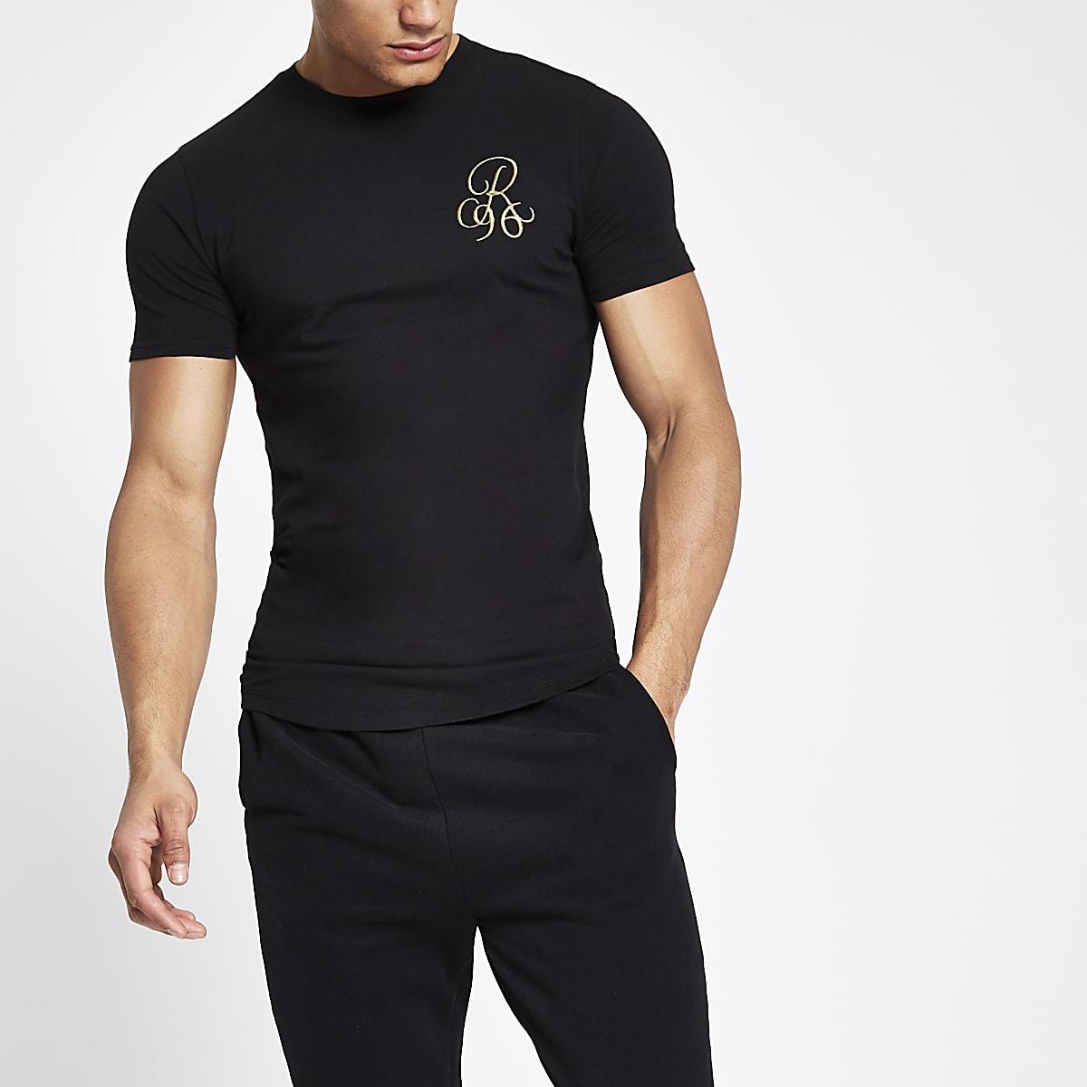 8552bdcecef Black R96 muscle fit T-shirt