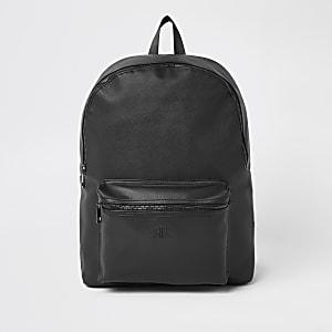 Schwarzer Rucksack mit Prägung